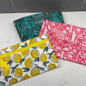 Set of 3 Ipsy Make Up Pouches